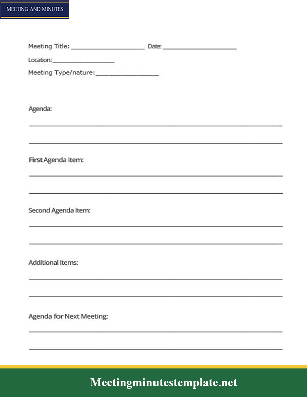 Simple Meeting Minutes Template PDF
